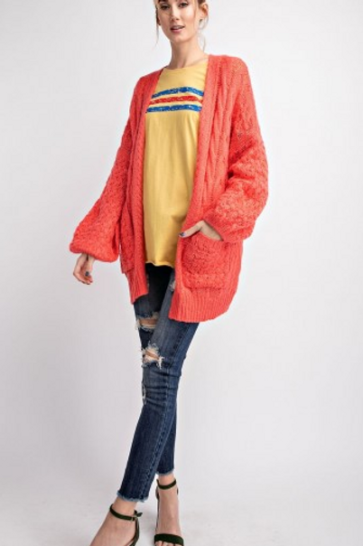 Wool Knitted Sweater Cardigan