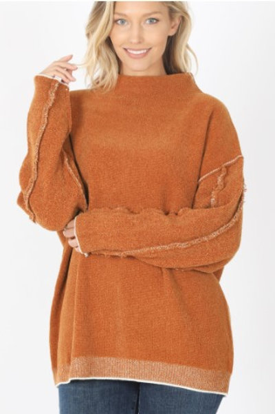 Oversized Mock Neck Sweater