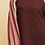 Thumbnail: Waffle Knit Scoop-Neck Featuring Contrast Detail at Sleeve