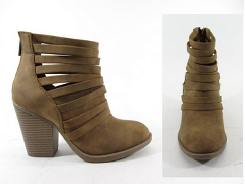 Midi Chunky Heel Booties w/ Back Zipper