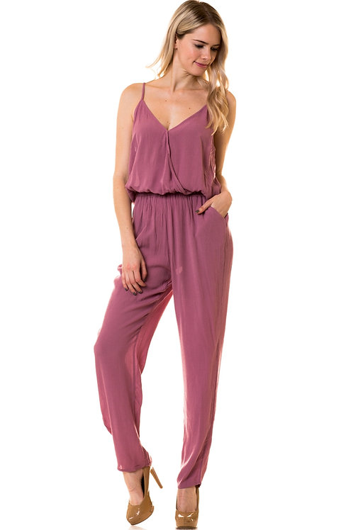 Sleeveless Front Band Detail Jumpsuit