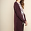 Thumbnail: Long Open Front Knit Cardigan with Pockets