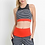 Thumbnail: Striped Mesh Racerback Sports Bra with Contrast Band