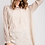 Thumbnail: Crochet Sleeve Hooded Pullover Top