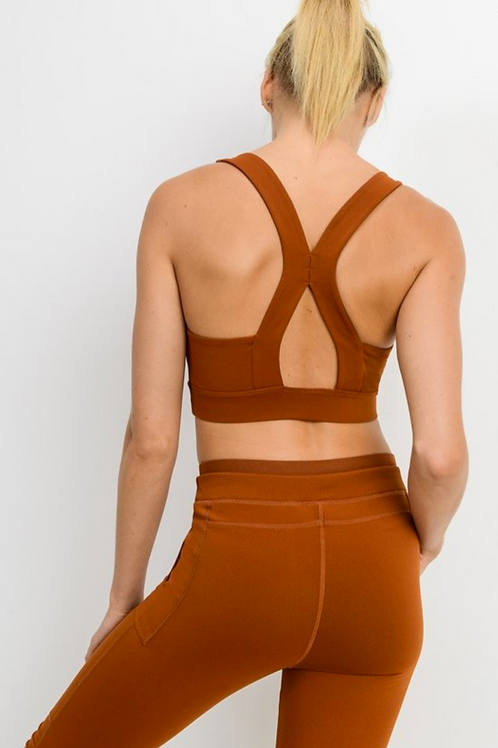 Rust Colored Razor Back Bra