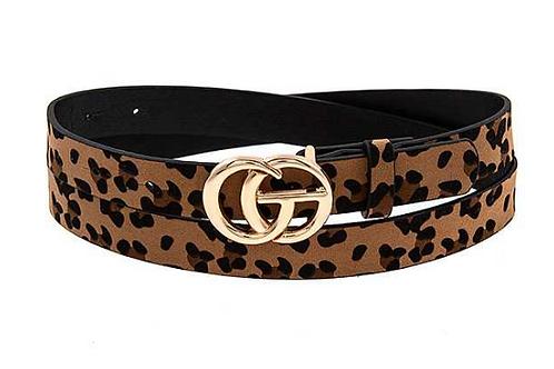 Leopard Faux Leather Belt