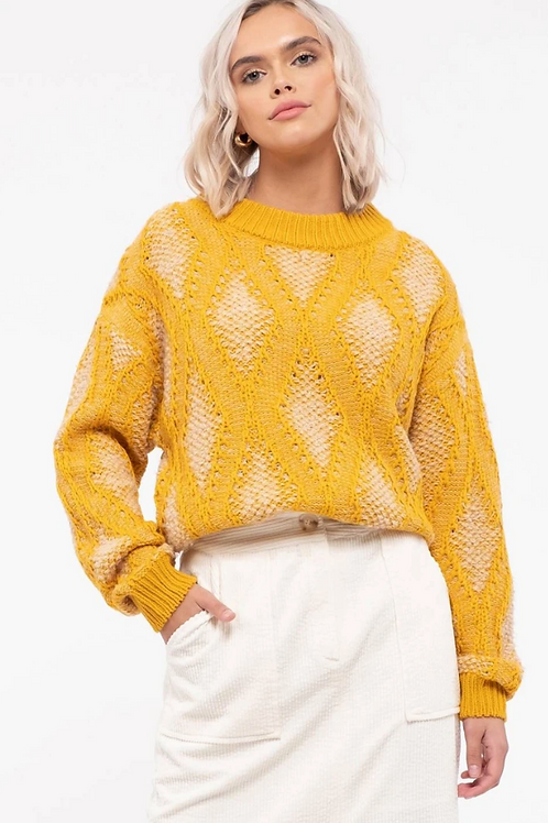 Aria Patterned Knit Top