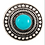 Thumbnail: Round Gem Accent Post Earrings