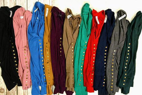 Snap Button Cardigan Sweater