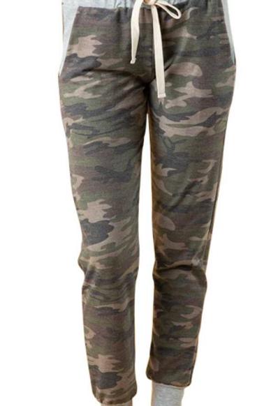 Army Print Jogger Pants
