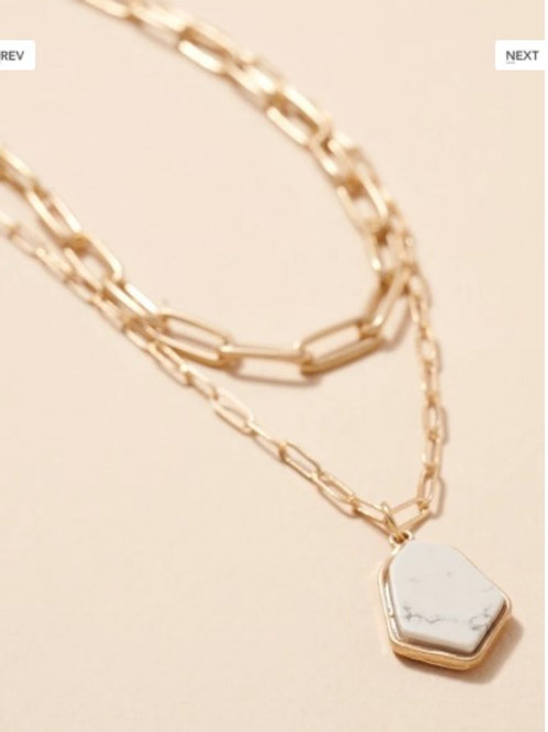 Double Chained Necklace