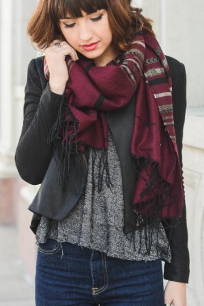 Cheyenne Blanket Tassel Scarf