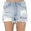 Thumbnail: High Rise Distressed Denim Shorts