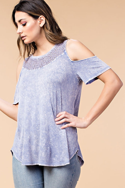 Washed Lace Top