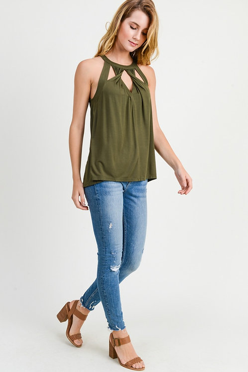 Twist Front Sleeveless Top