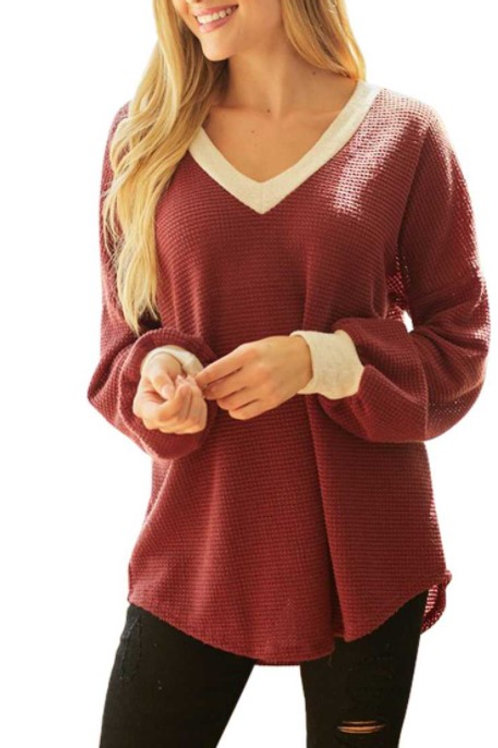 Chunky Waffle Solid Top