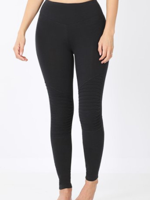 Cotton Full Length Moto Legging