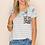 Thumbnail: Plus - Floral & Leopard Contrast Top With Pocket