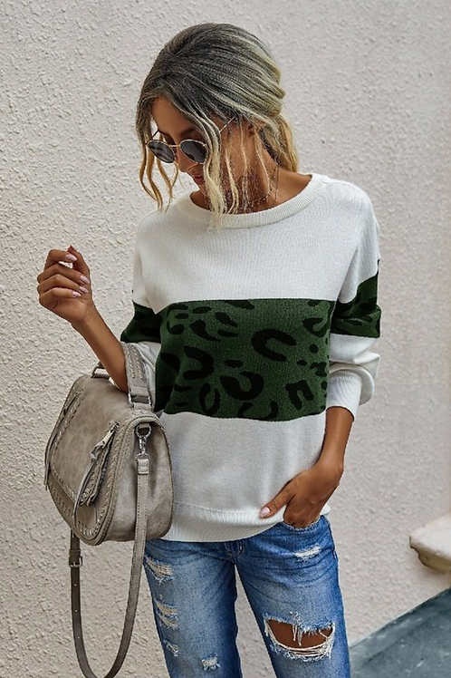 Arianna Emerald Leopard Sweater
