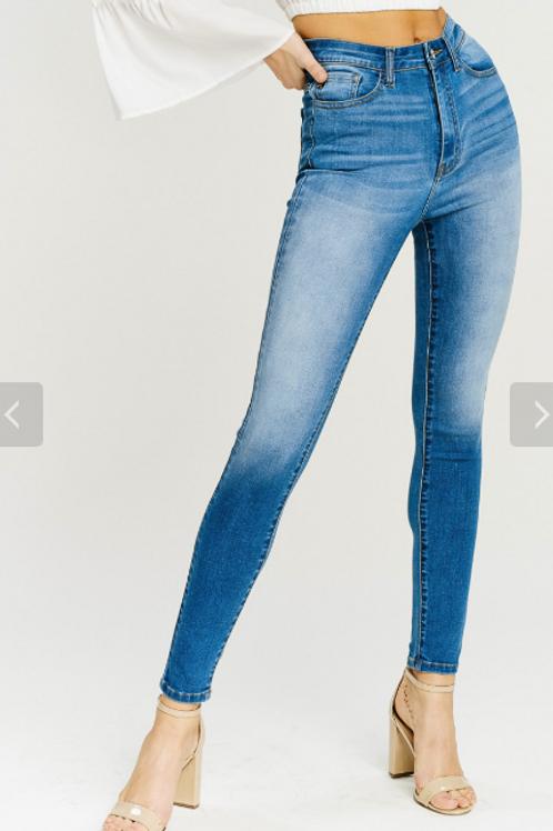 Pat Kancan High-Rise Solid Light-Wash Jean