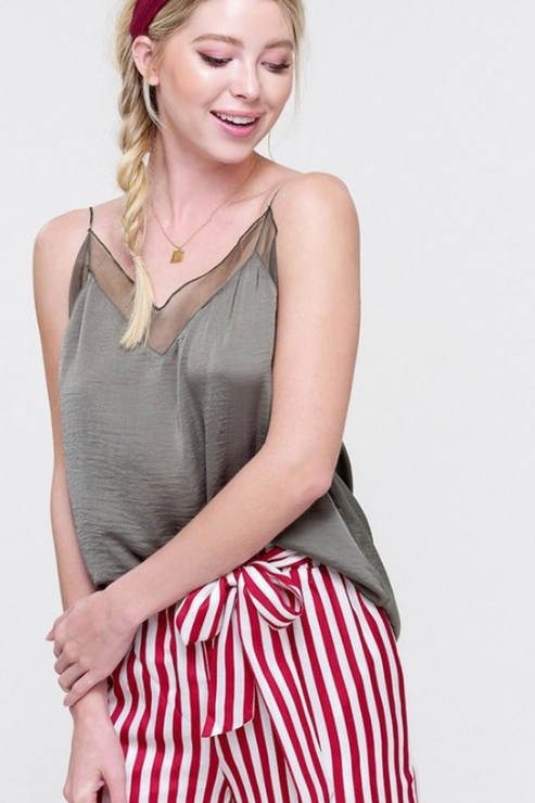 Lustrous Silky V-Neck Camisole