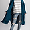 Thumbnail: Teal Knitted Sweater Cardigan
