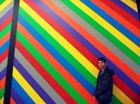 Cian poses in the Stedlijk museum