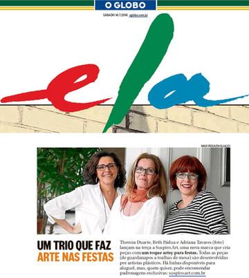 SUSPIRO art - O Globo - Caderno Ela