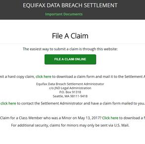 Equifax 125 或 250 美金 的賠償