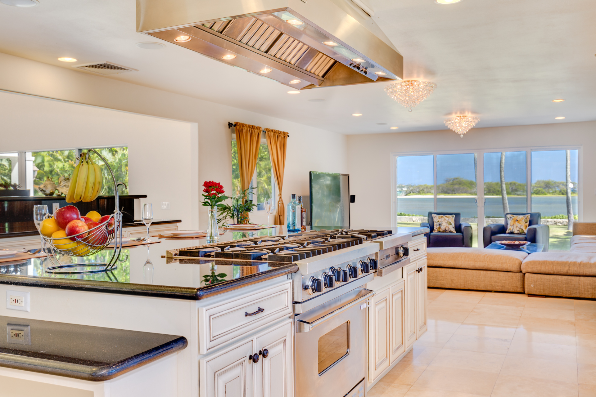 Gourmet Kitchen with View