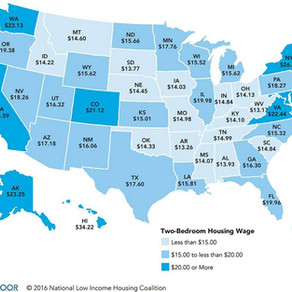 2016 USA Rental and Wages Relation