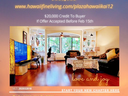 Plaza Hawaii Kai Unit 12 Advantages