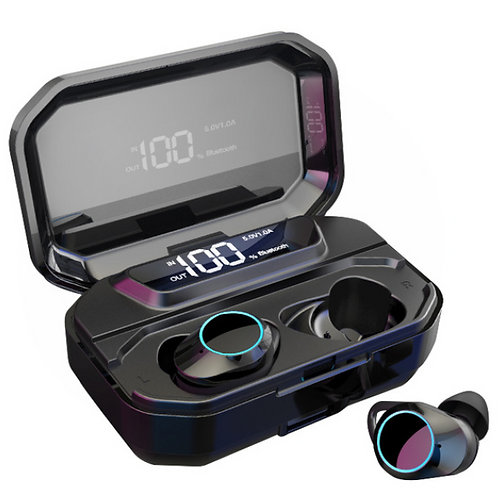 Bluetooth Earbuds Stereo LED  Display/3300mAh Power Bank