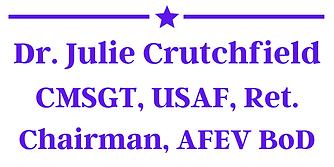 Purple - Dr. Julie Crutchfield, CMSGT, U