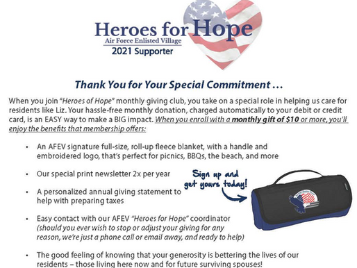 You're Invited to Join Heroes for Hope