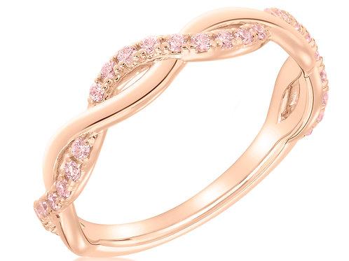 Argyle Pink Diamond Twist Band