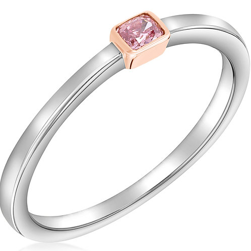 Fancy Intense Pink Stackable Ring
