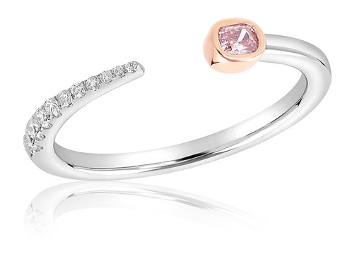 Fancy Intense Radiant Stackable Ring