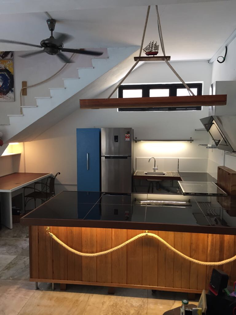 The kitchen at the annexe wing.