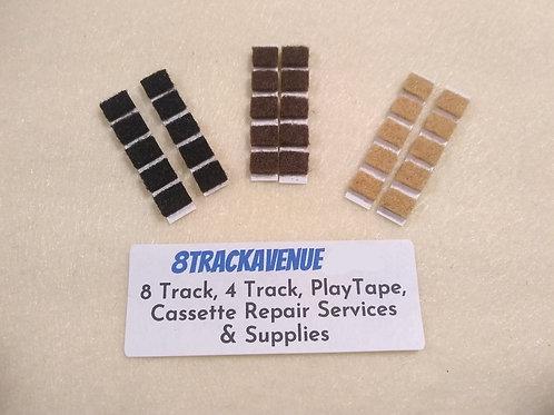 Cassette Tape Felt Pressure Pads 30 Pack Pre-cut