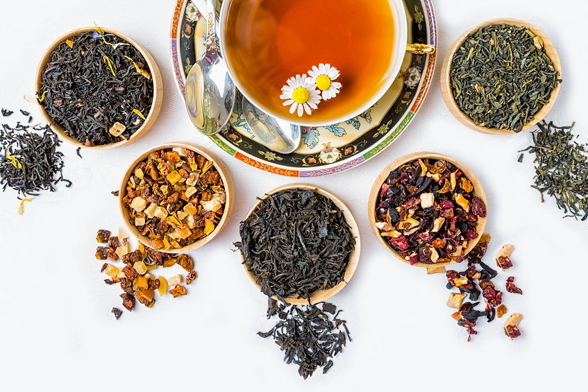 Tea, Cup of tea, various kinds of tea, t