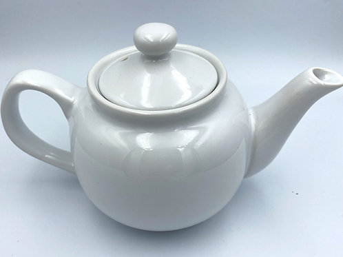 Guernsey Tea Pot White 6 Cup