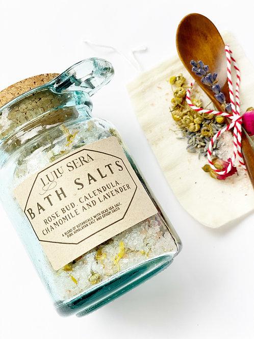 Rose Bud, Chamomile, Calendula and Lavender Bath Salts