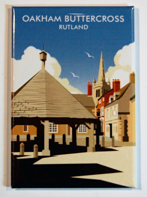 Oakham Buttercross fridge magnet