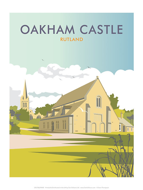 Oakham castle greeting card