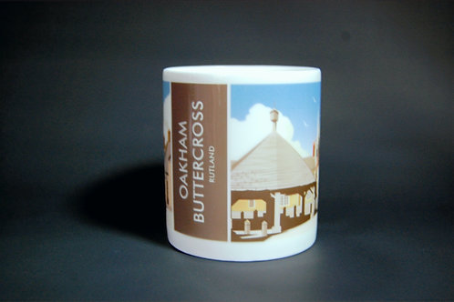 Oakham buttercross mug