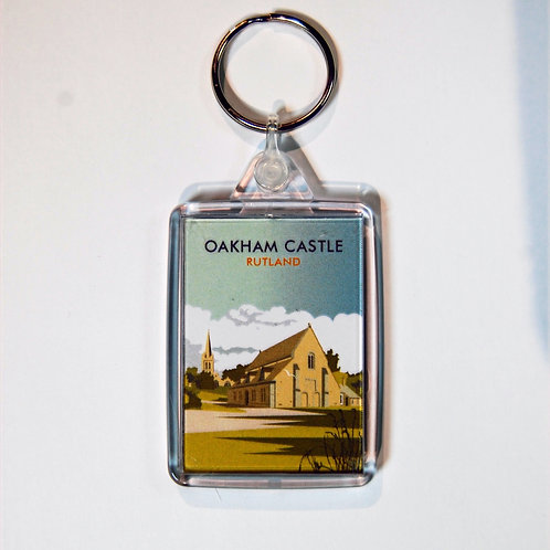 Oakham Castle acrylic key ring