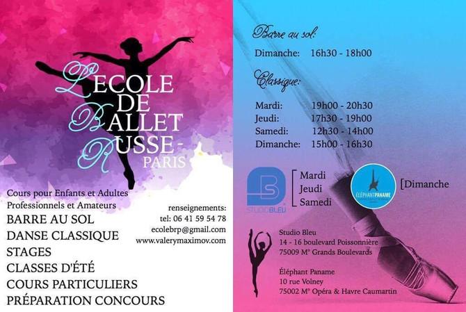 ECOLE DE BALLET RUSSE-PARIS