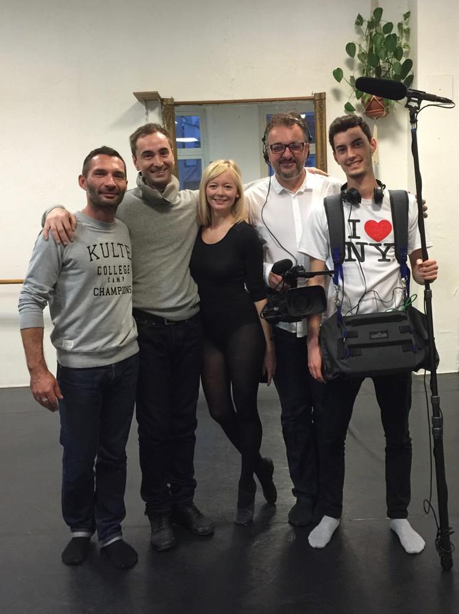 Valery Maximov et l'équipe de tournage
