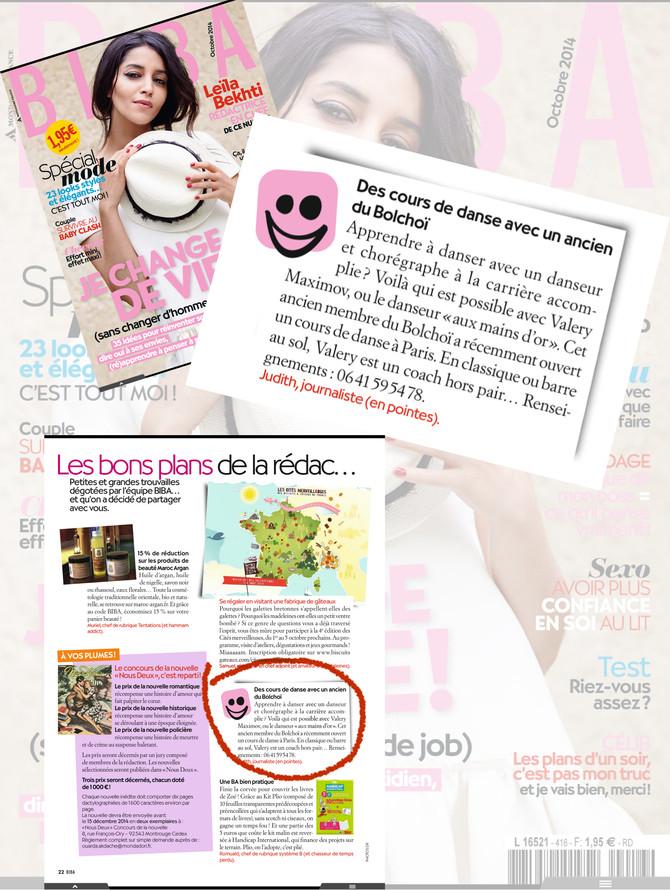 article Biba octobre 2014